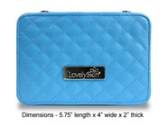 Photo of LovelySkin Blue Quilted Cosmetics Case